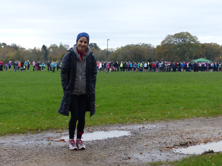 A very cold wait and I was very reluctant to shed my layers. I would have happily run in fleeces and jackets!