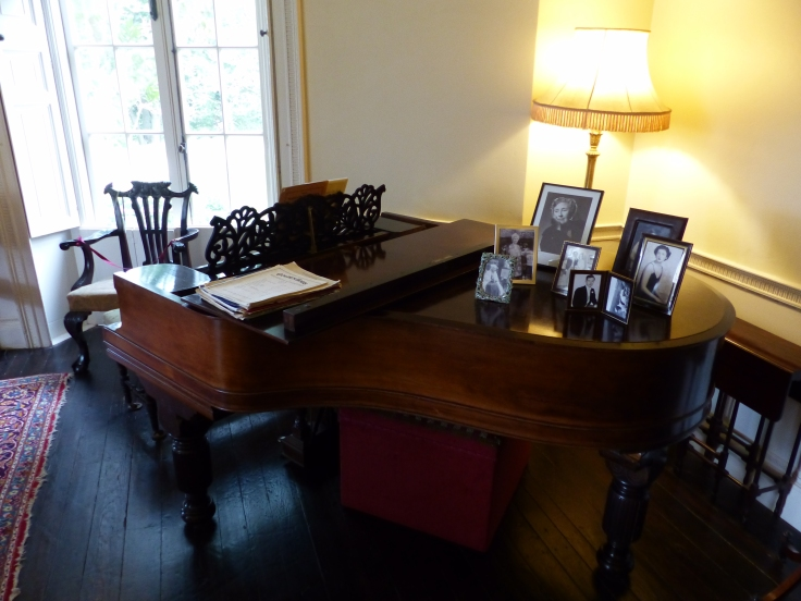 The Steinway piano. Agatha Christie trained as a concert pianist but was too shy to perform in public, even for her own family.