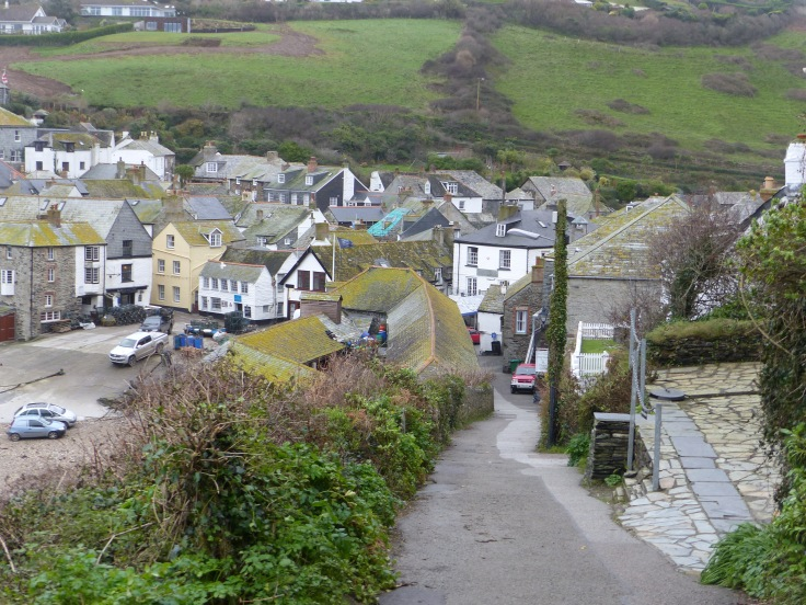 Looking down Doc Martin's street