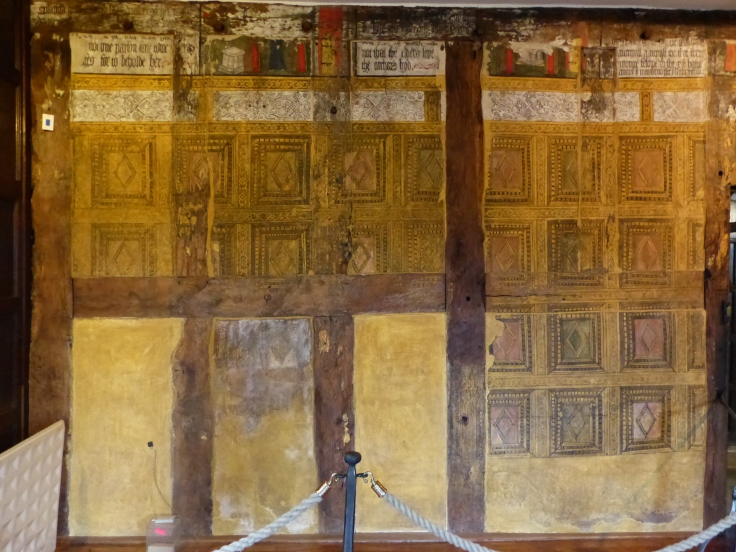 A painted wall, the Tudor equivalent of wall paper