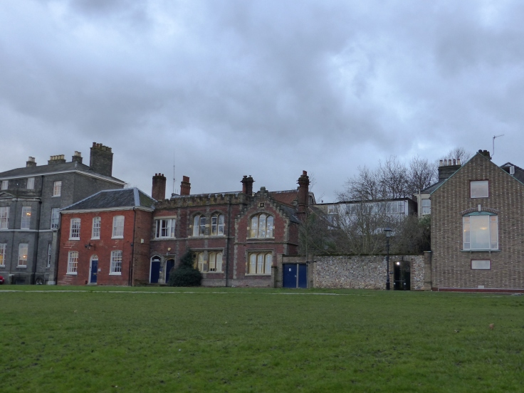 I loved this row of houses because they were all made from something different - a patchwork street