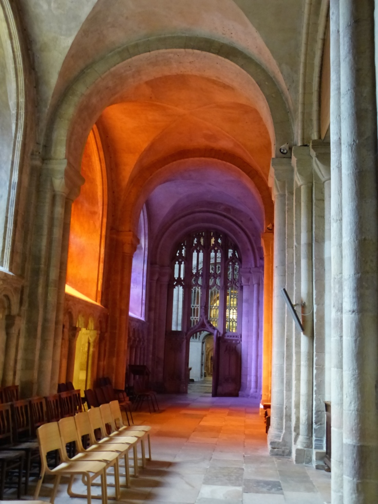 I loved the light. The reds and purples were just from the light coming through the stained glass windows