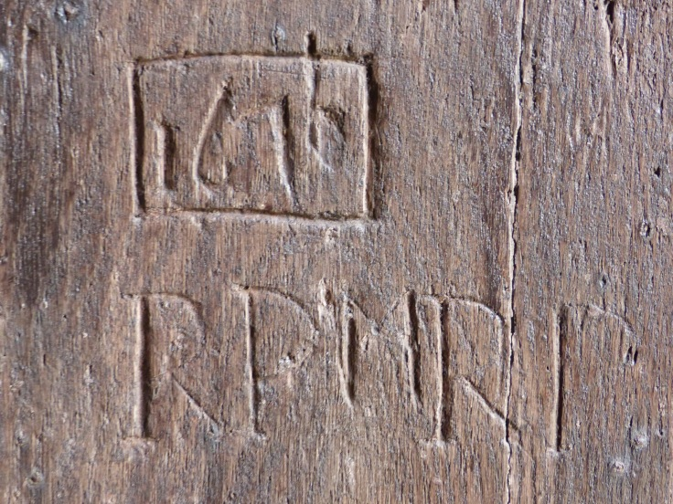 ...with some medieval graffiti from 1616! (The church itself dates from the 13th century)