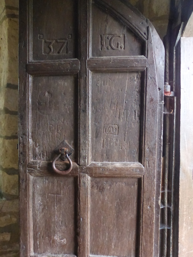 The Haddenham church door...