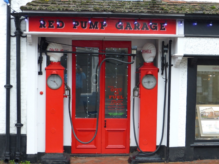 These petrol pumps in Great Missenden High Street are the same ones described by Roald Dahl in Danny The Champion of the World