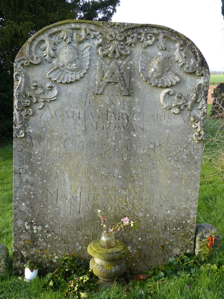 Agatha Christie's grave in a corner of the churchyard