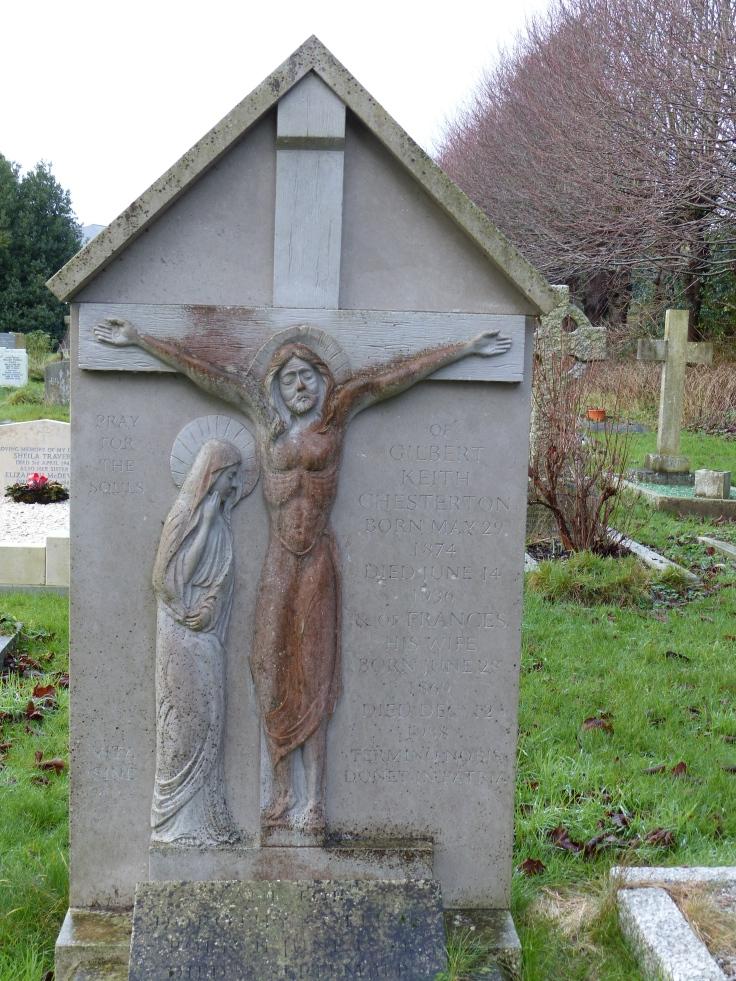 The grave of G.K. Chesterton