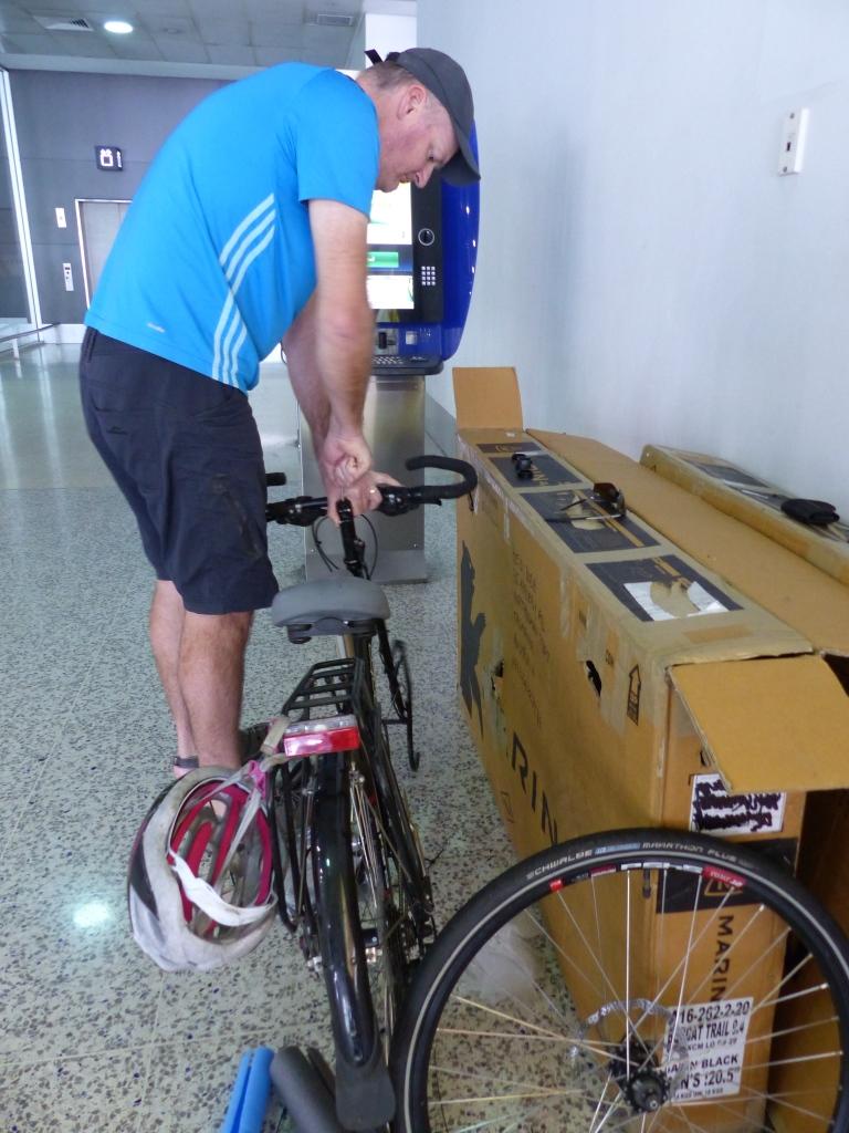 Steve goes to work on the little bike